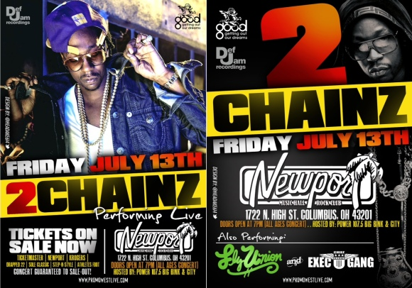 2CHAINZ PERFORMING LIVE AT THE NEWPORT FRIDAY THE 13TH